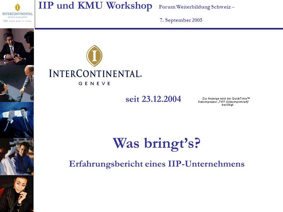 Erfahrungsbericht eines IIP-Unternehmens