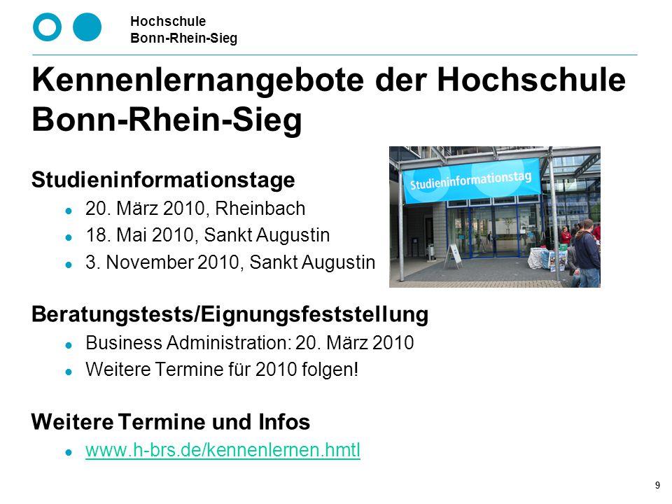 Kennenlernangebote der Hochschule Bonn-Rhein-Sieg
