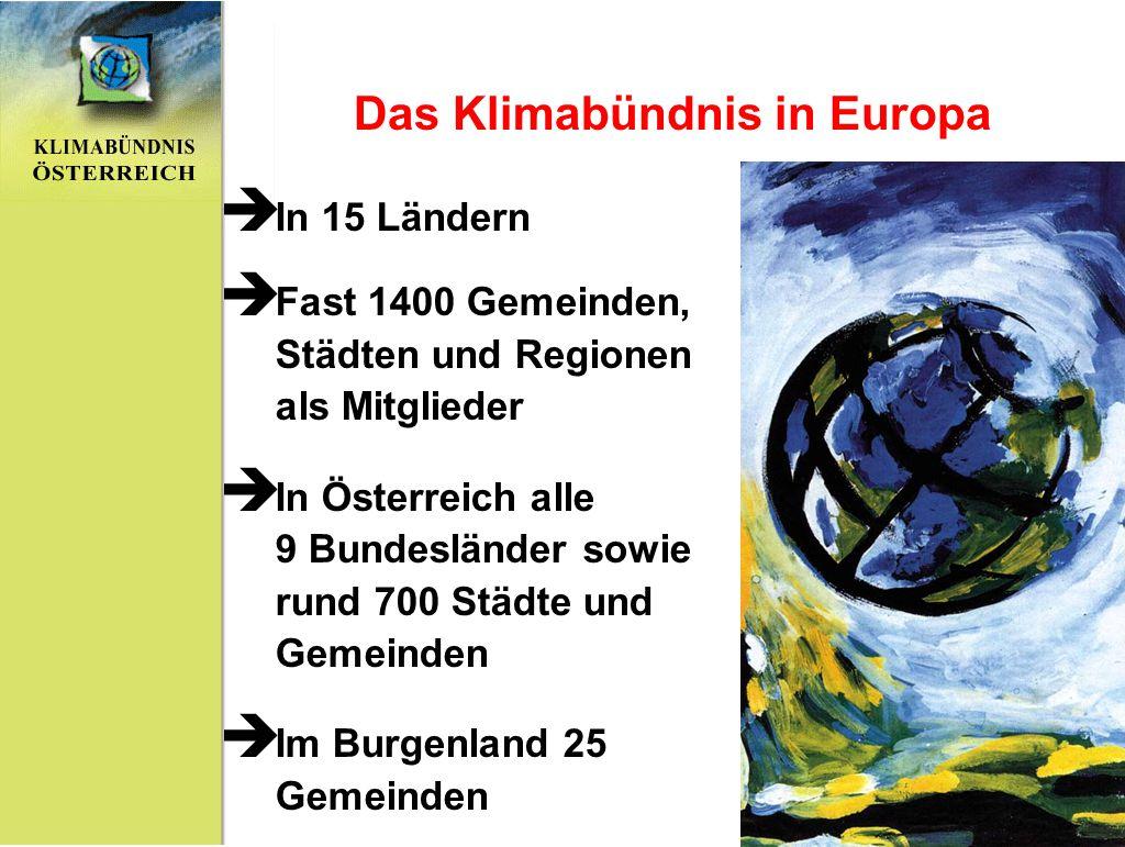 Das Klimabündnis in Europa