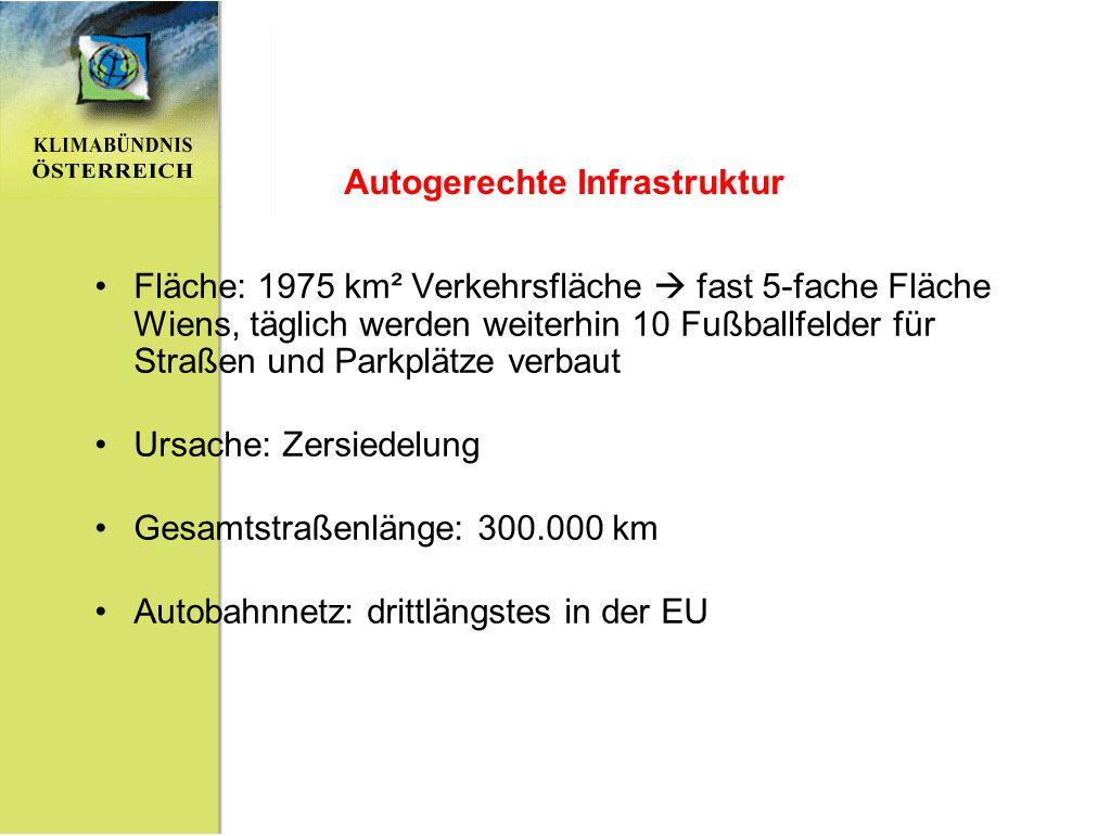 Autogerechte Infrastruktur