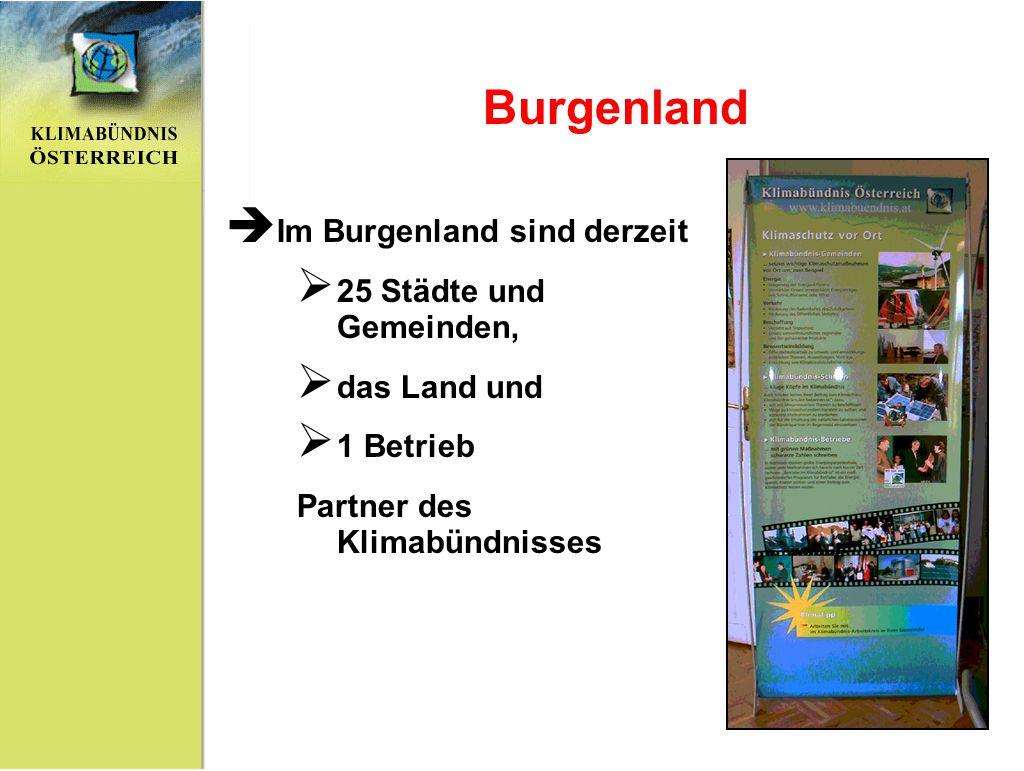 Burgenland Im Burgenland sind derzeit 25 Städte und Gemeinden,