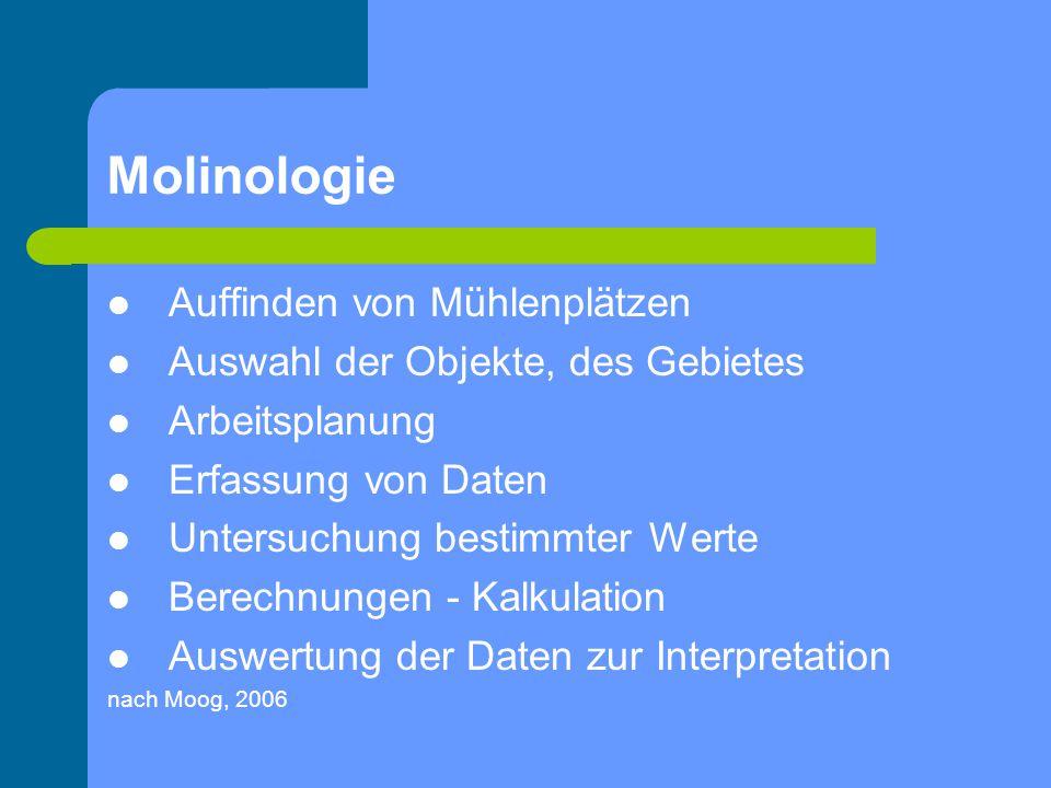 Molinologie Auffinden von Mühlenplätzen