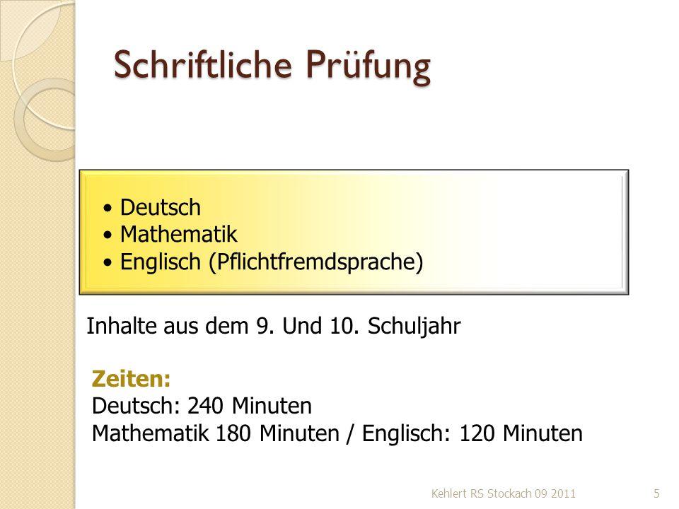 Schriftliche Prüfung Deutsch Mathematik Englisch (Pflichtfremdsprache)