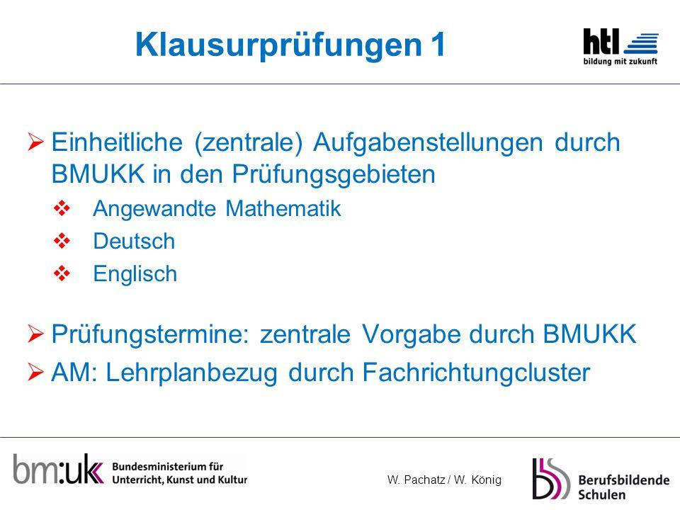 Klausurprüfungen 1 Einheitliche (zentrale) Aufgabenstellungen durch BMUKK in den Prüfungsgebieten. Angewandte Mathematik.