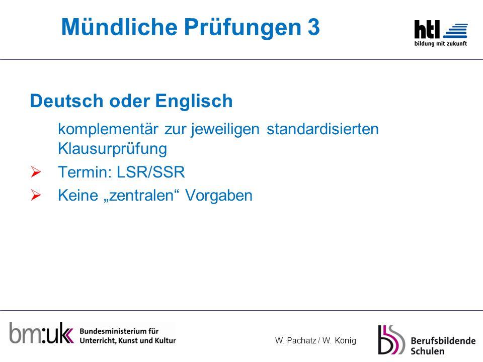Mündliche Prüfungen 3 Deutsch oder Englisch