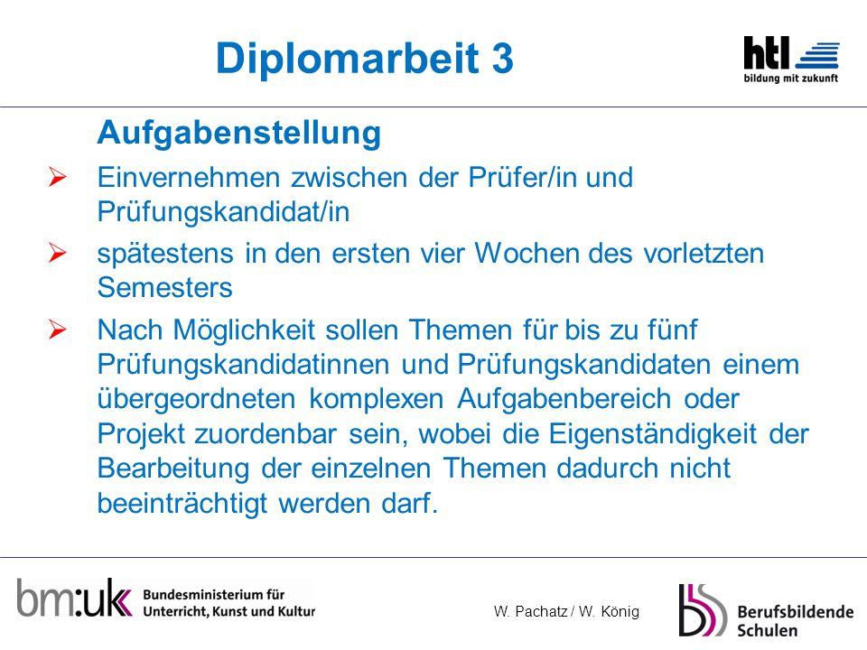 Diplomarbeit 3 Aufgabenstellung