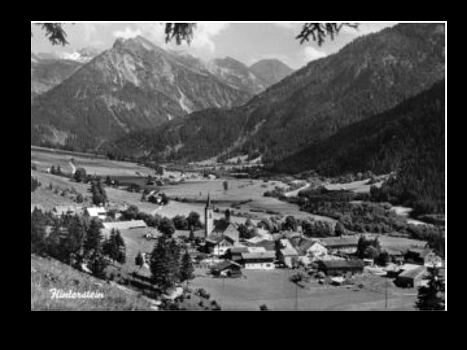 An diesen Ort (Hinterstein) wurde die Z4 im Krieg unter schlimmen Bedingungen transportiert
