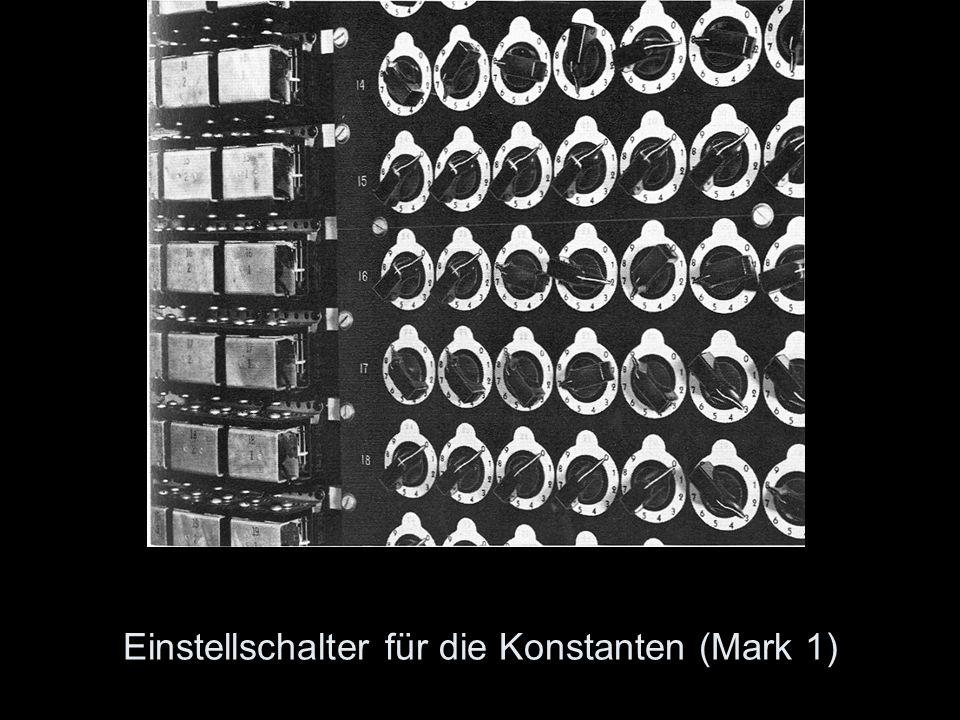 Einstellschalter für die Konstanten (Mark 1)