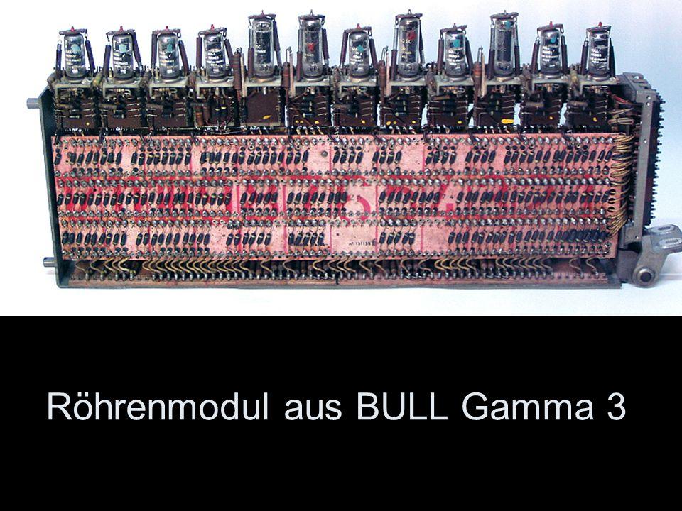 Röhrenmodul aus BULL Gamma 3