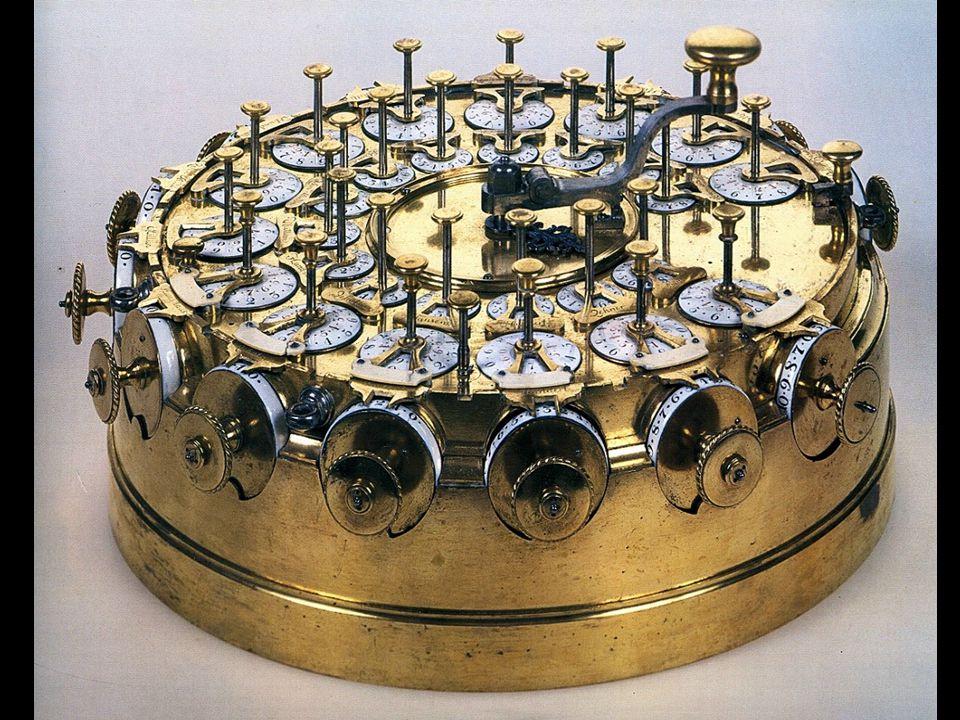 Sehr dekorative mechanische Rechenmaschine von Johann Helfrich von Müller, 1784.