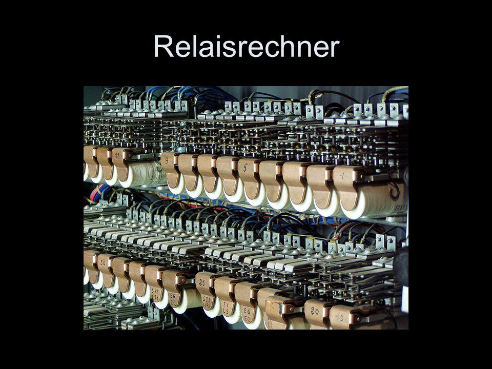 Relaisrechner Hier ein Beispiel aus dem Bestand des technikum29