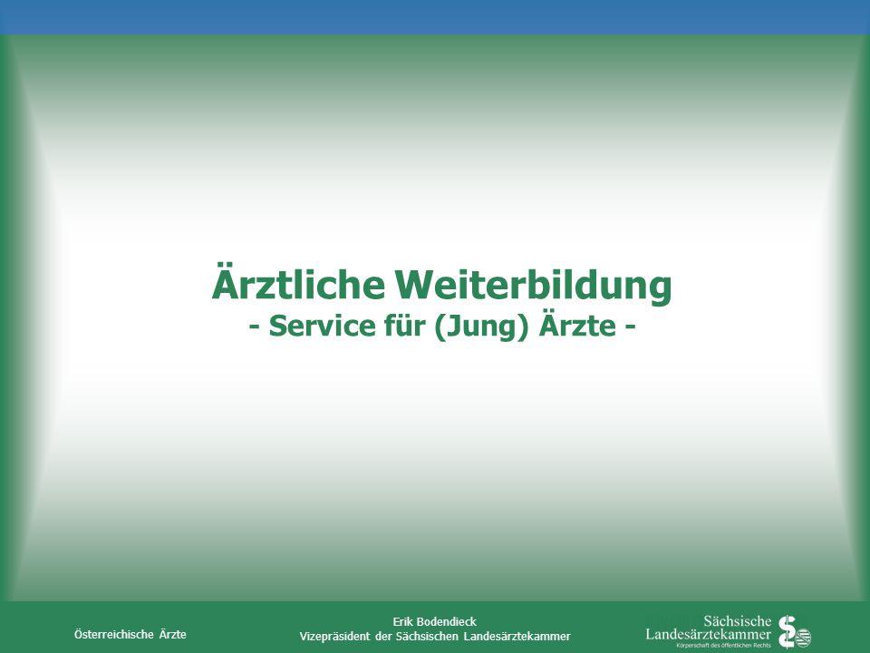 Ärztliche Weiterbildung - Service für (Jung) Ärzte -