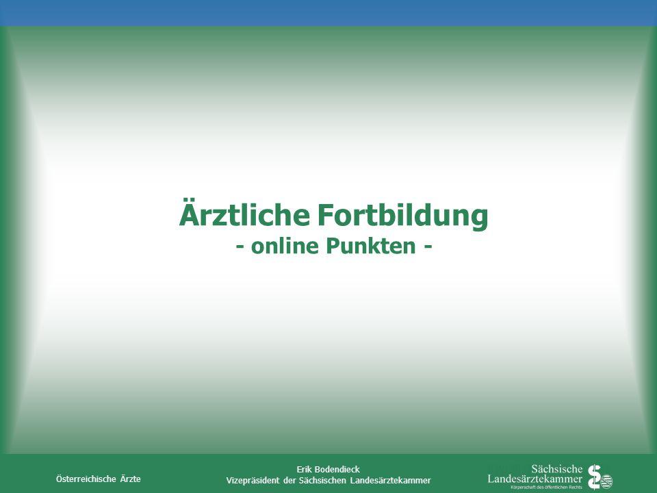 Ärztliche Fortbildung - online Punkten -