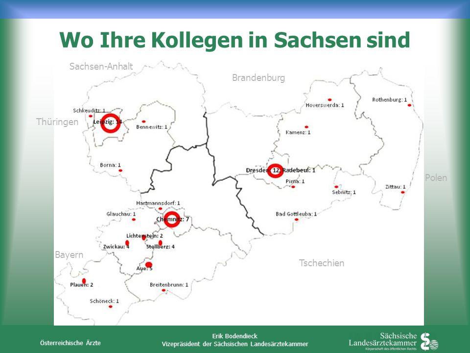 Wo Ihre Kollegen in Sachsen sind