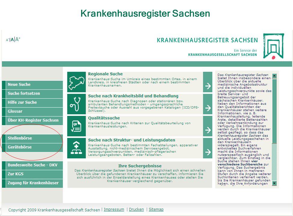 Krankenhausregister Sachsen