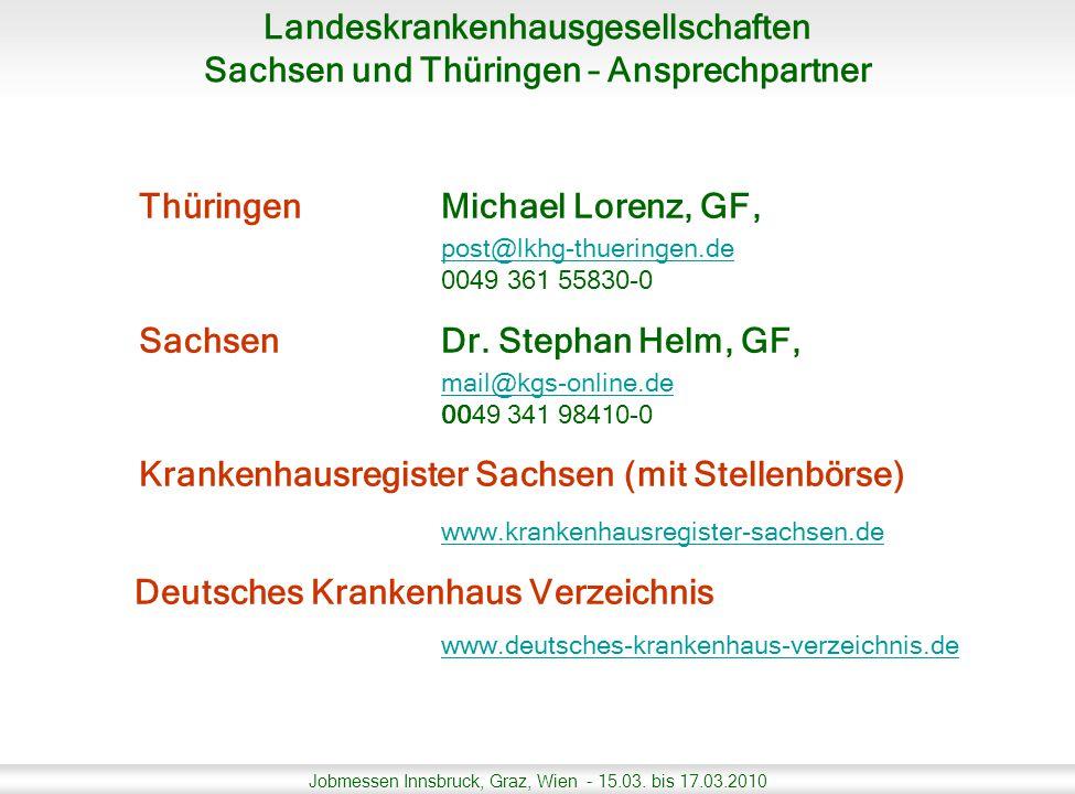 Thüringen Michael Lorenz, GF, Sachsen Dr. Stephan Helm, GF,