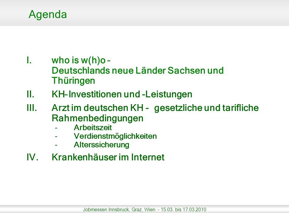 Agenda who is w(h)o – Deutschlands neue Länder Sachsen und Thüringen
