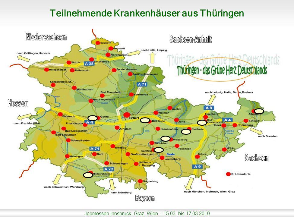 Teilnehmende Krankenhäuser aus Thüringen