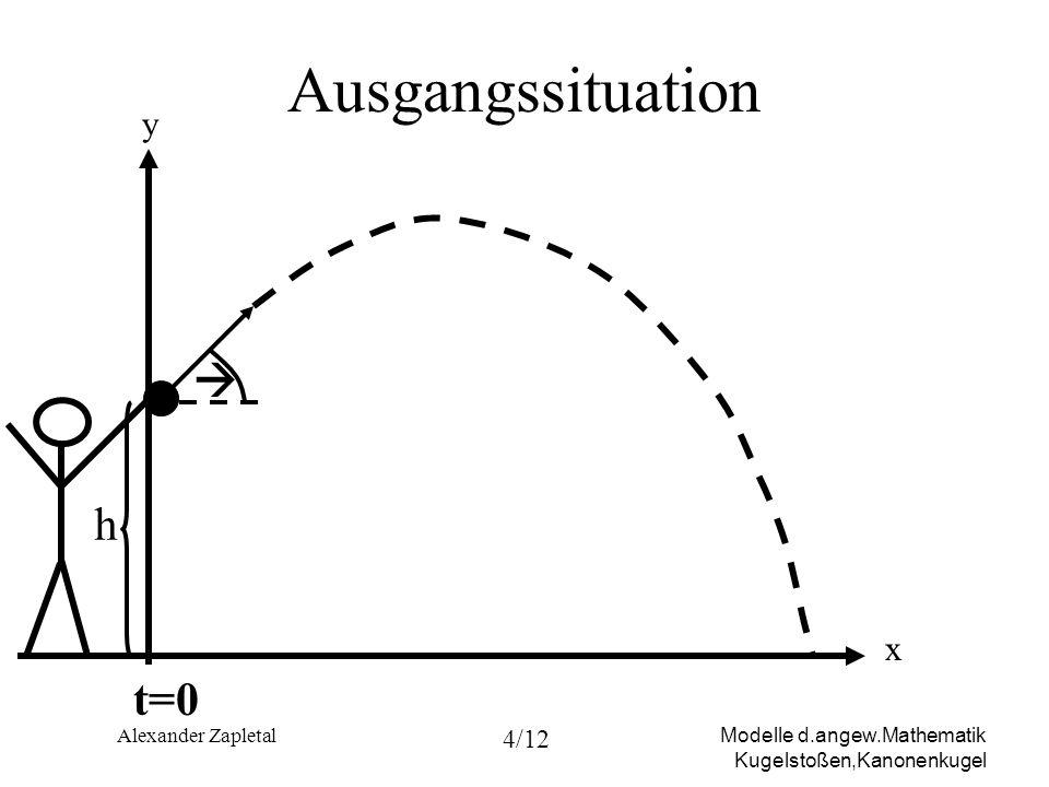 Ausgangssituation y  h x t=0 Alexander Zapletal