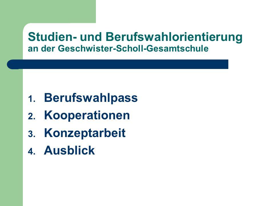 Studien- und Berufswahlorientierung an der Geschwister-Scholl-Gesamtschule
