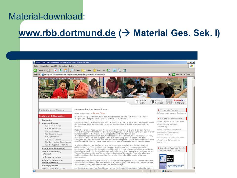 www.rbb.dortmund.de ( Material Ges. Sek. I)