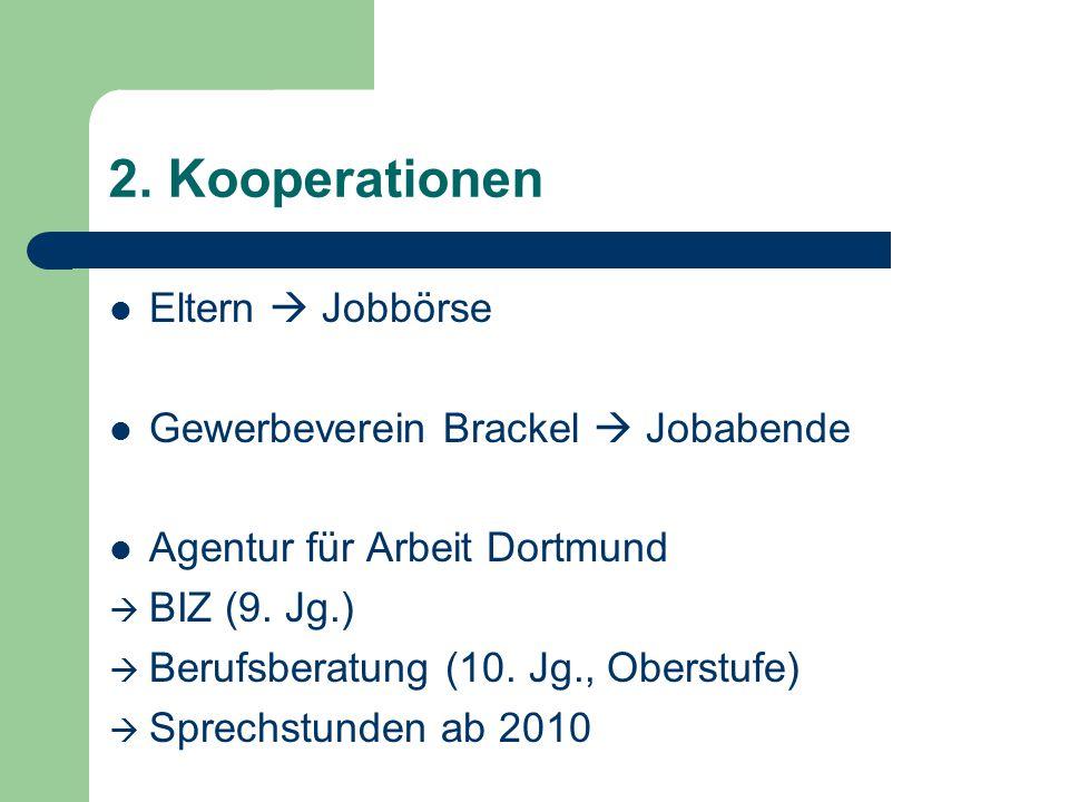 2. Kooperationen Eltern  Jobbörse Gewerbeverein Brackel  Jobabende