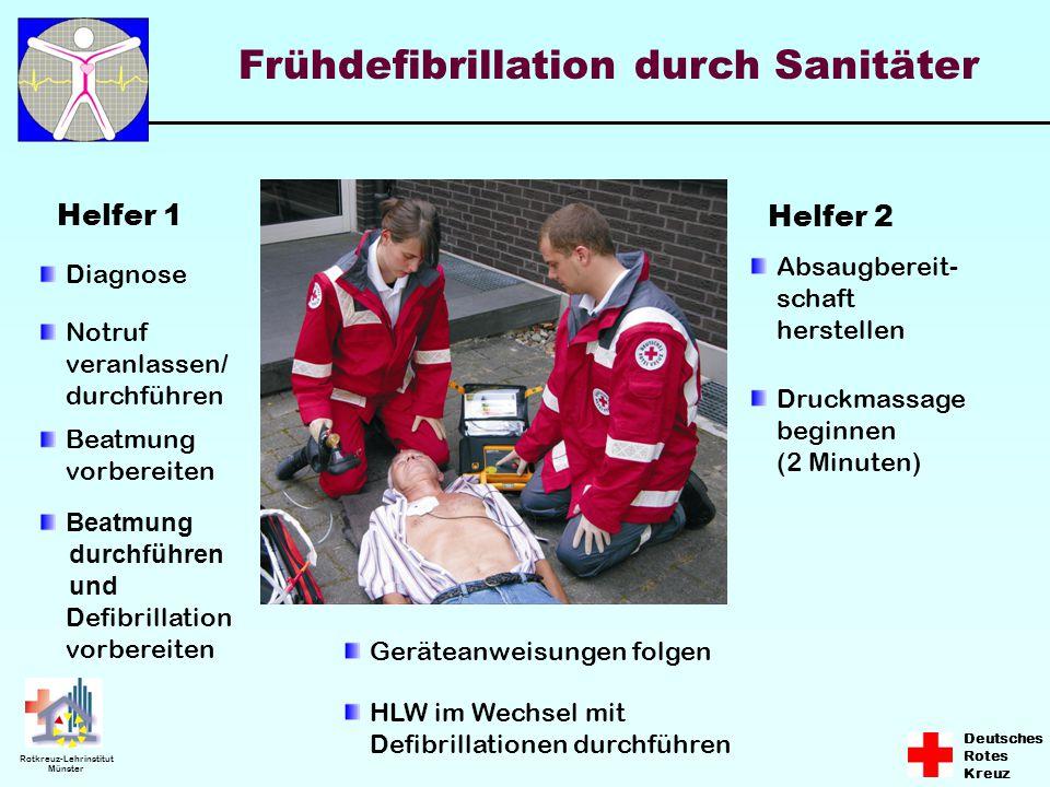 Frühdefibrillation durch Sanitäter