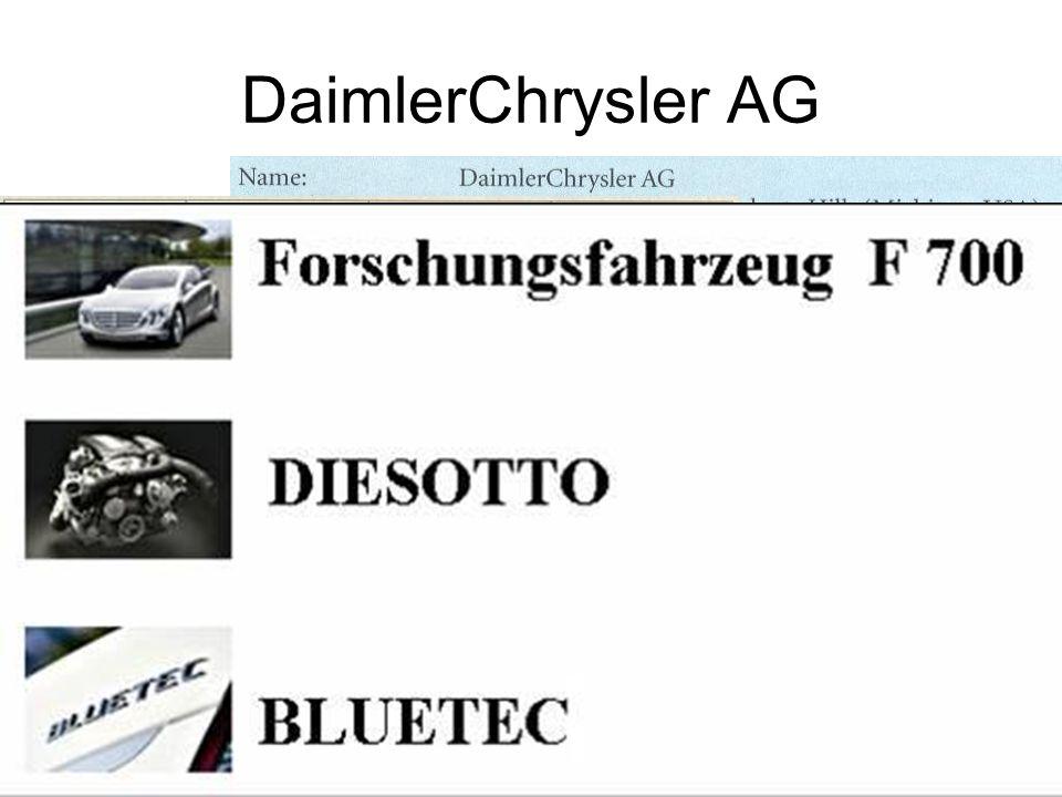DaimlerChrysler AG Erst Fragen ob wer was über DaimlerChrysler auch so weiss…
