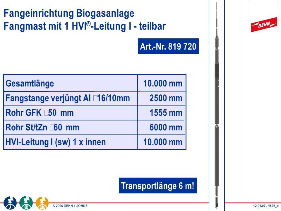 Fangeinrichtung Biogasanlage Fangmast mit 1 HVI®-Leitung I - teilbar