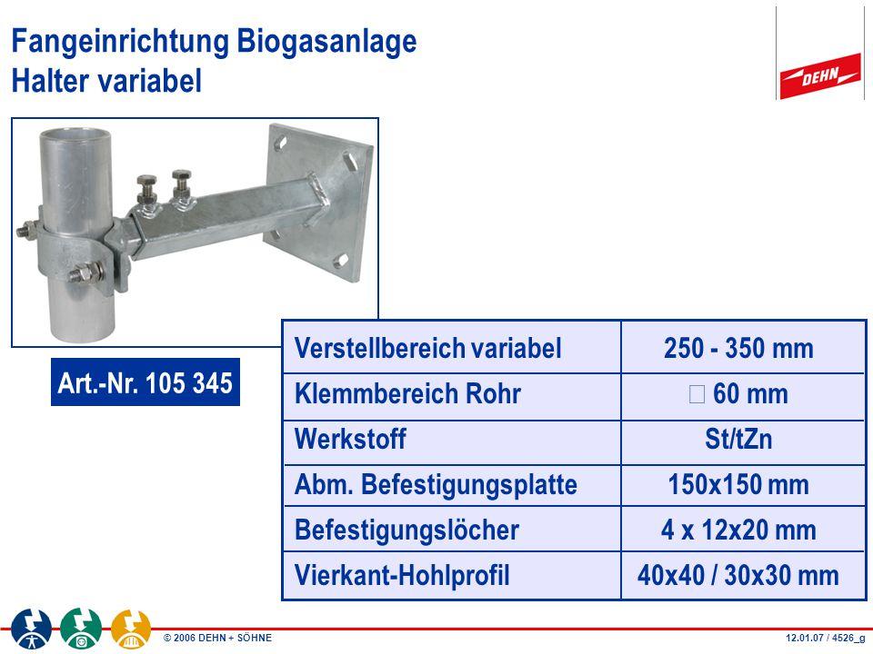 Fangeinrichtung Biogasanlage Halter variabel