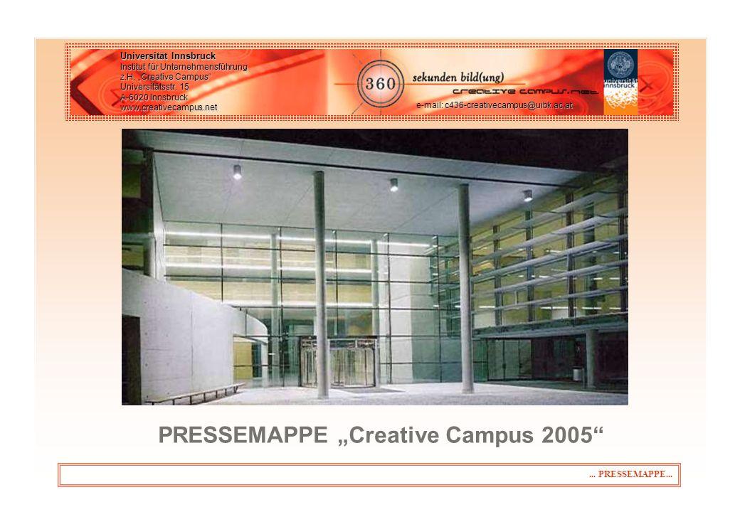 "PRESSEMAPPE ""Creative Campus 2005"