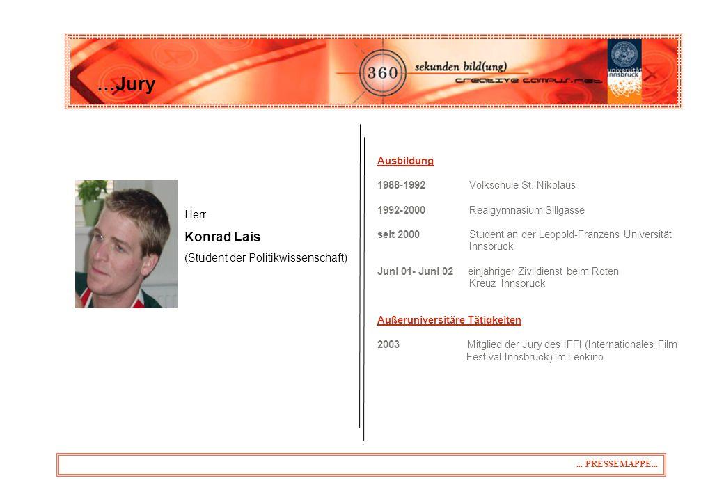 …Jury Konrad Lais 31.03.2017 Herr (Student der Politikwissenschaft)