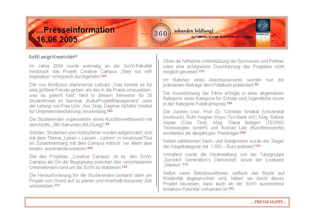 ... über Creative Campus (CC) ...Presseinformation 16.06.2005