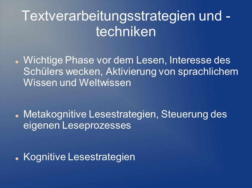 Textverarbeitungsstrategien und - techniken