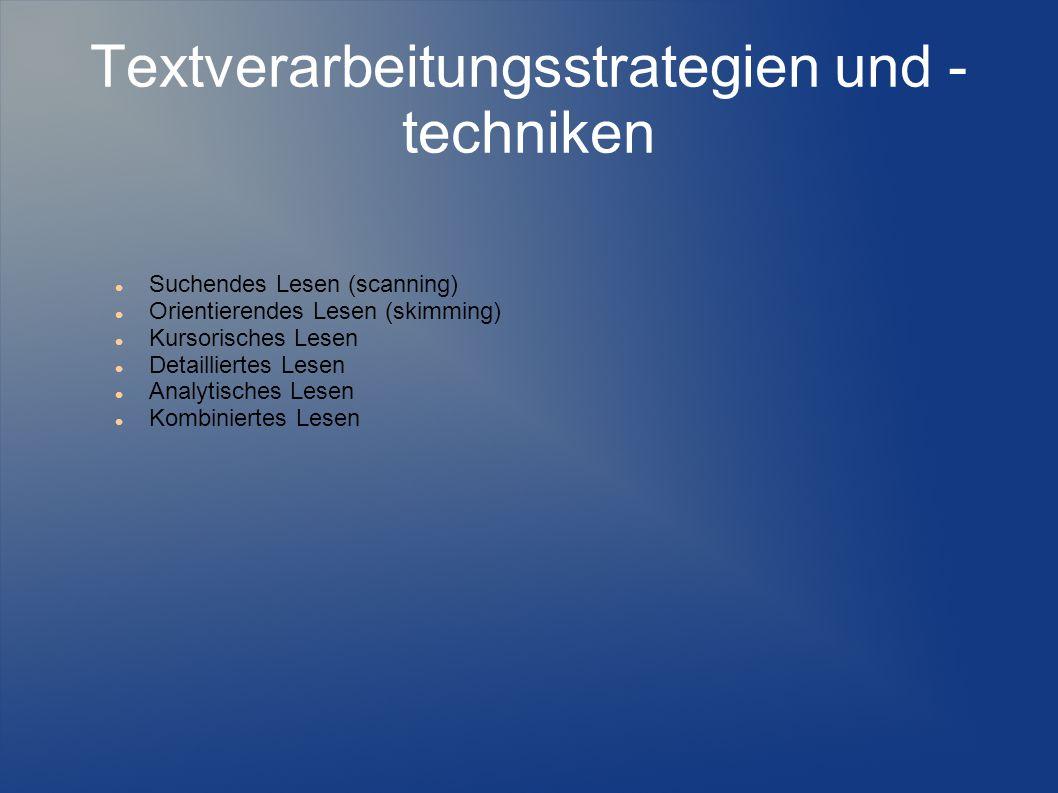 Textverarbeitungsstrategien und -techniken