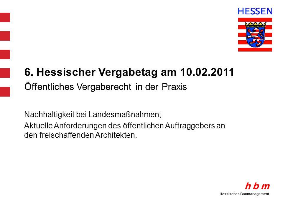 6. Hessischer Vergabetag am 10.02.2011