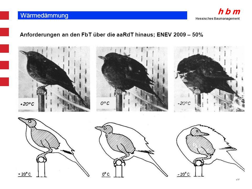 Wärmedämmung Anforderungen an den FbT über die aaRdT hinaus; ENEV 2009 – 50%