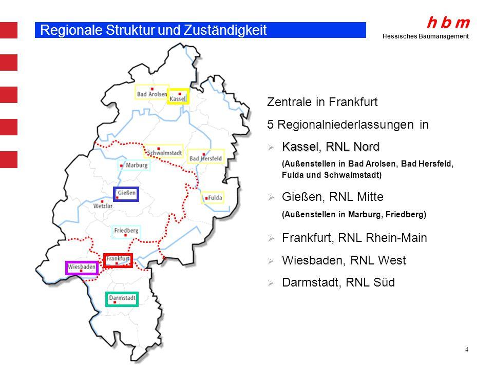 Regionale Struktur und Zuständigkeit