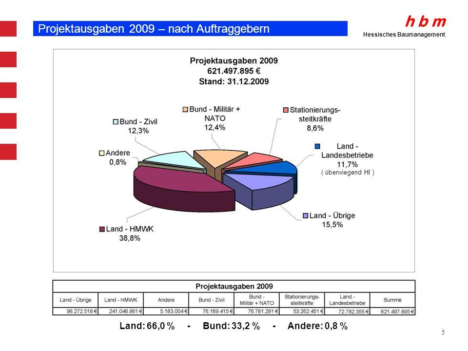 Projektausgaben 2009 – nach Auftraggebern