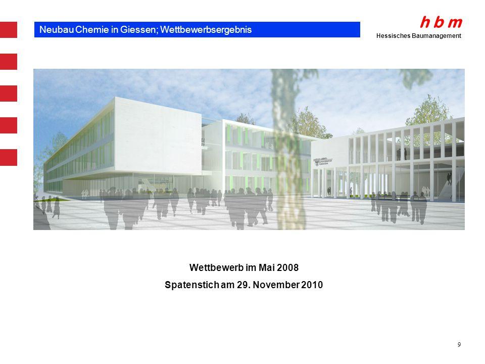 Neubau Chemie in Giessen; Wettbewerbsergebnis