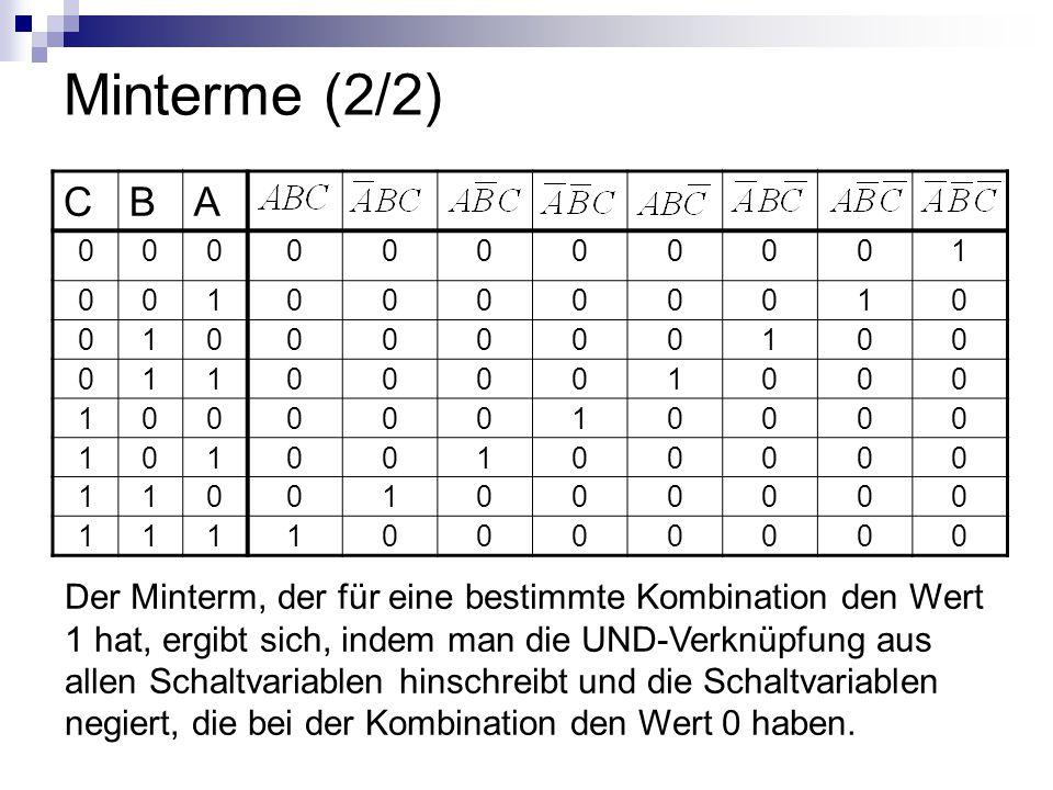 Minterme (2/2) C. B. A. 1.