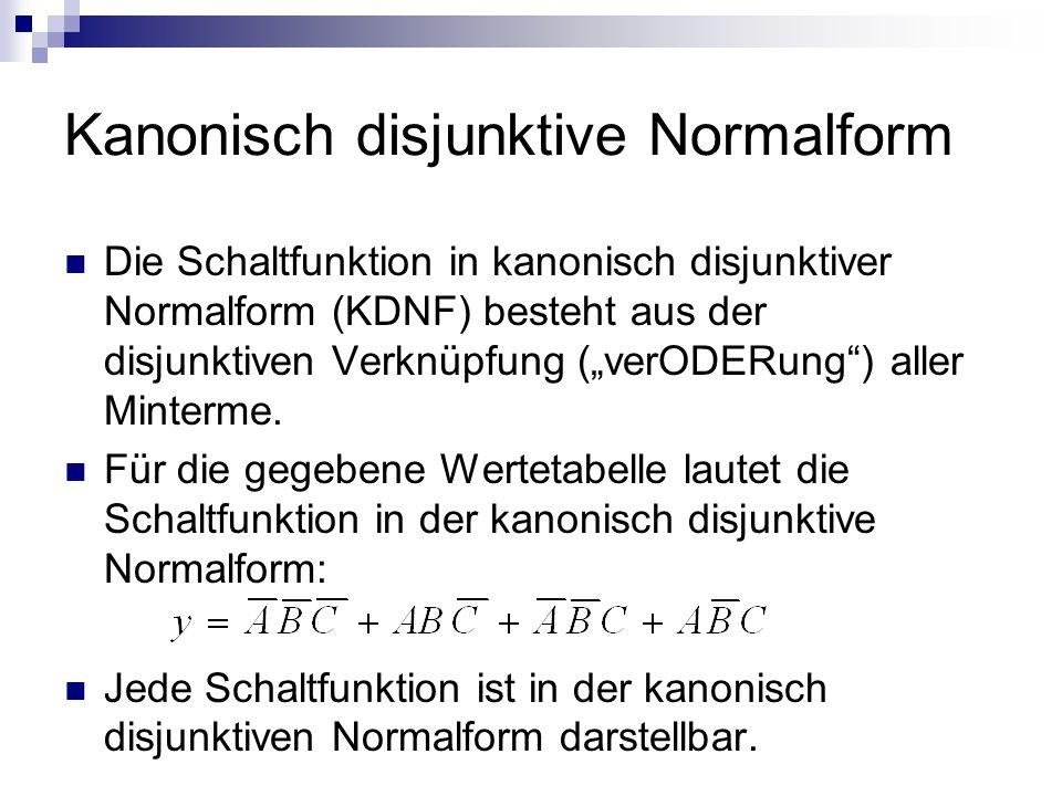 Kanonisch disjunktive Normalform