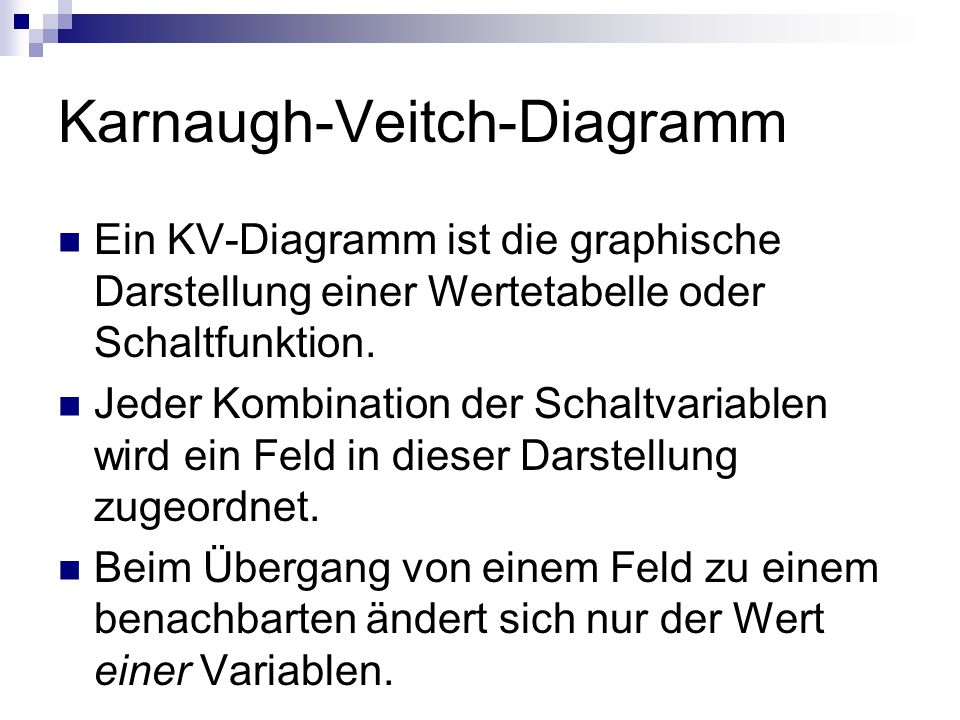 Karnaugh-Veitch-Diagramm