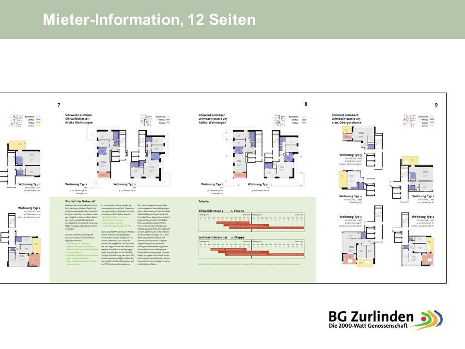 Mieter-Information, 12 Seiten