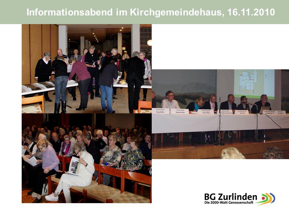 Informationsabend im Kirchgemeindehaus, 16.11.2010