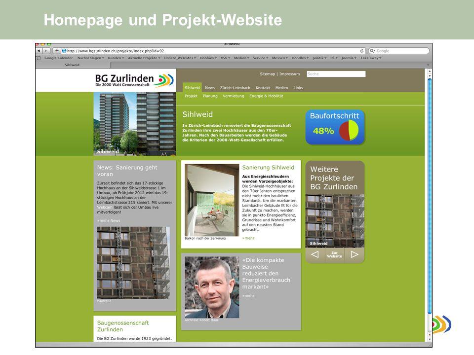 Homepage und Projekt-Website
