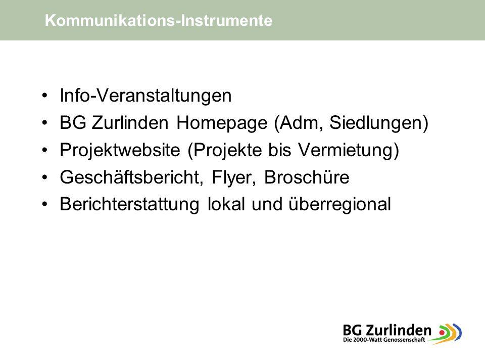 Info-Veranstaltungen BG Zurlinden Homepage (Adm, Siedlungen)
