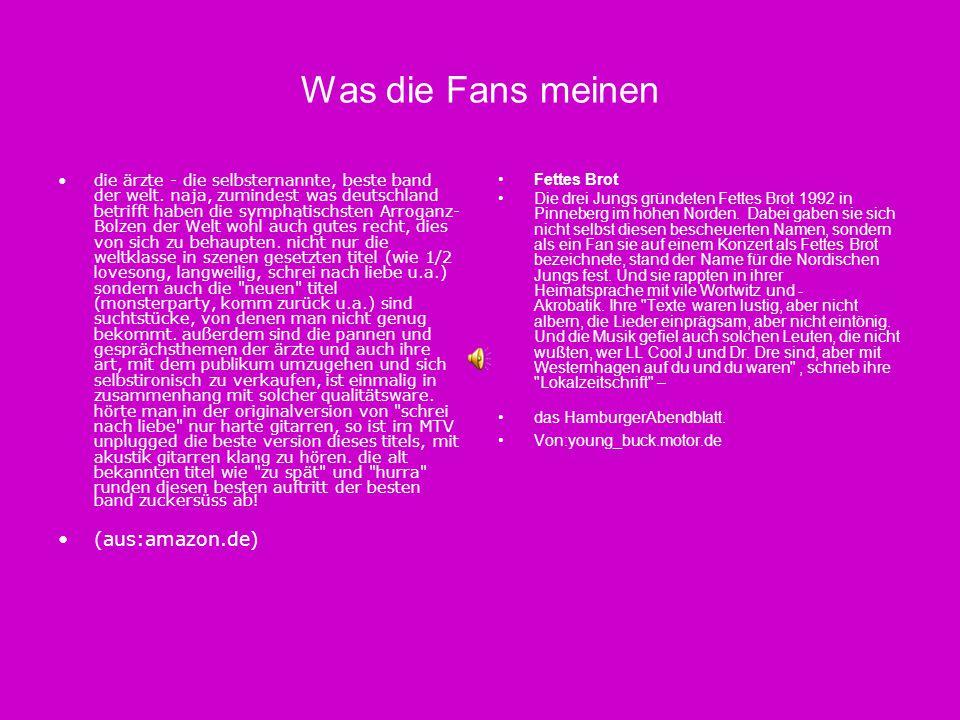 Was die Fans meinen (aus:amazon.de)