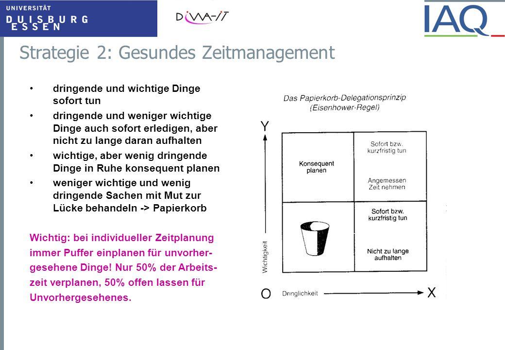 Strategie 2: Gesundes Zeitmanagement
