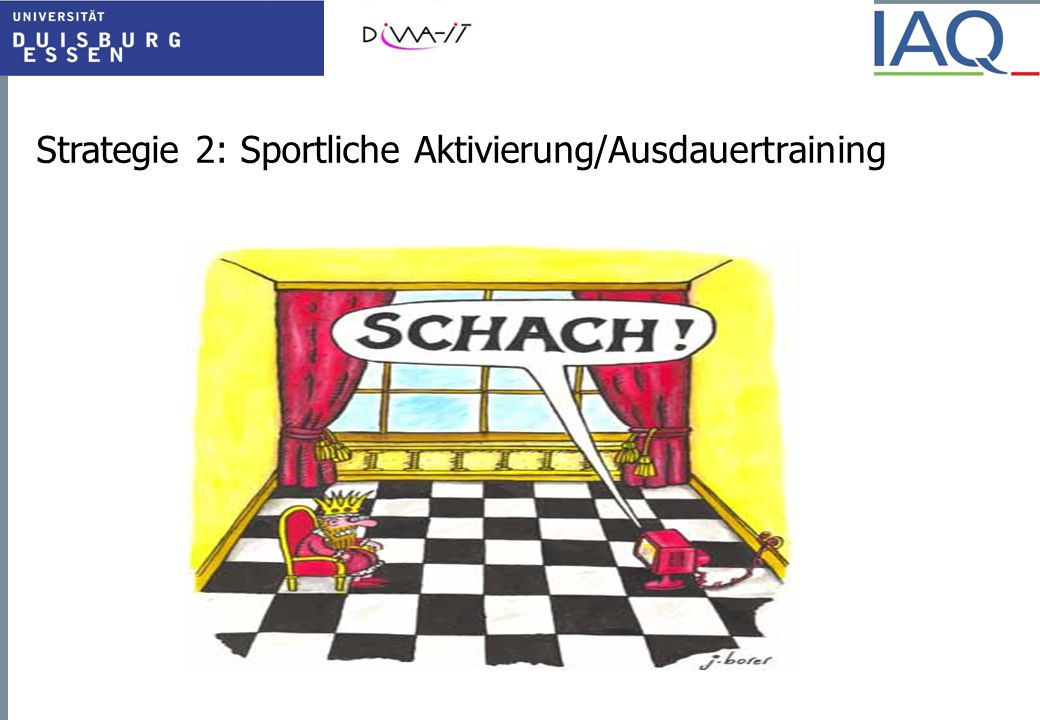 Strategie 2: Sportliche Aktivierung/Ausdauertraining